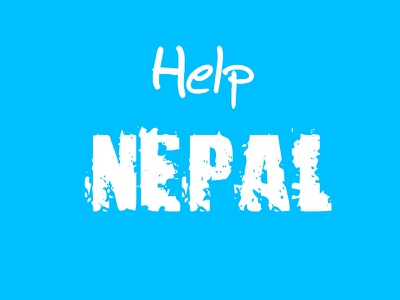 Help NEPAL  typography poster design nepal help nepal charity earthquake fund humanity non-profit