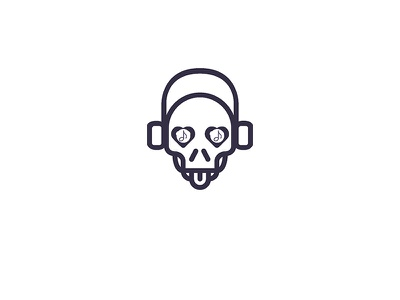 MrMusicMad  proposel headphone skull music logo