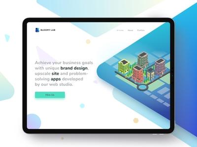 Bloomylab - Hero design