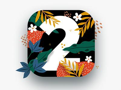 Icon design for 2 Minute Habits iOS app app store icon app store procrastination habits ios app ui design