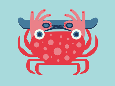 It's a Crab! cancer art illustration art skate hands eyes scissors skateboard sea illusion illustration crab