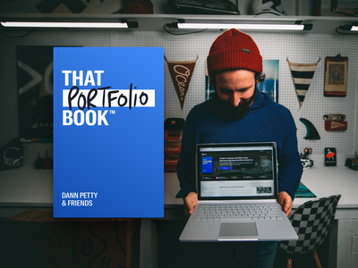 That Portfolio Book - now available for pre-orders brand design logo branding typography article editorial background image video audio course landing page home page homepage website book