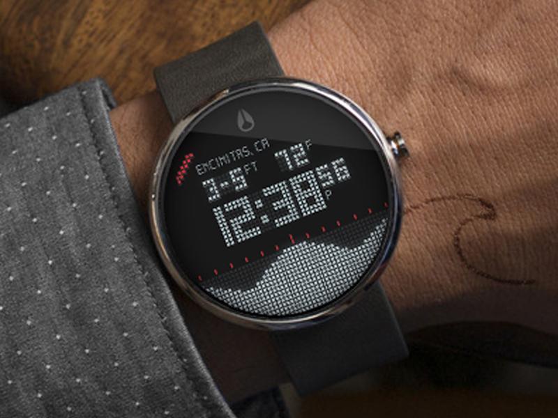 Android Wear - Nixon Digital Tide Surf App android wear watch digital nixon tide surf wave clock numbers surfing app
