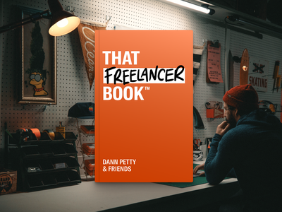 I wrote a book about freelancing! course freelancer freelance handwriting book cover home page homepage landing page website book