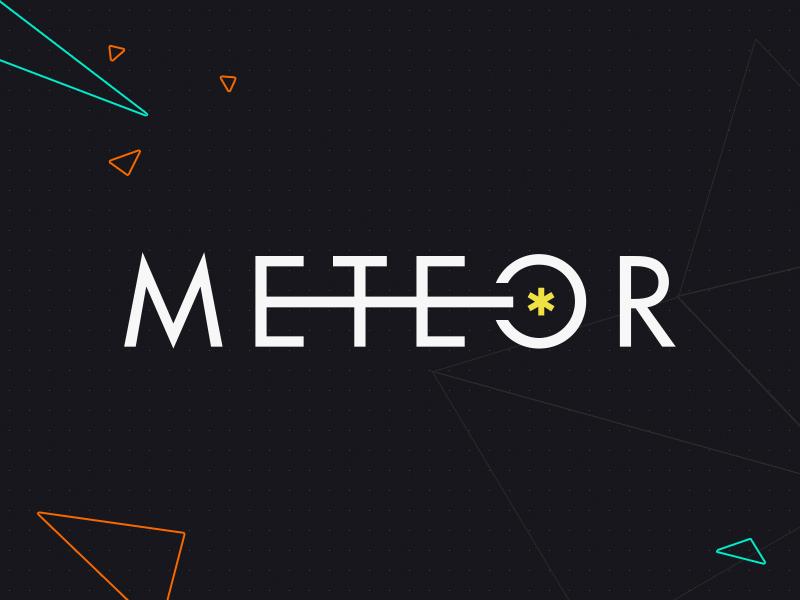 Meteor.com Identity meteor identity logo branding space futura typography polygon