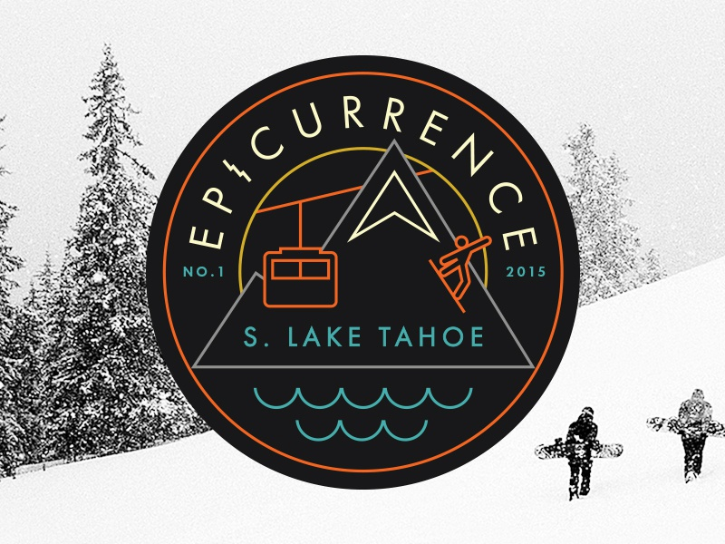 Epicurrence, the Non-Conference identity snowboarding tahoe badge patch ski epic conference logo brand