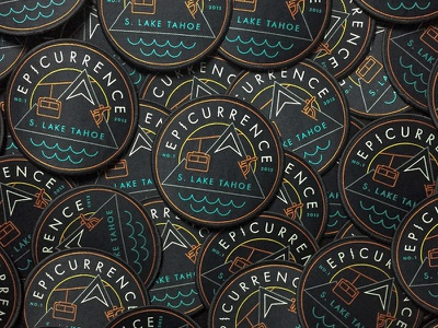 Epicurrence Patches patch logo identity branding badge snowboarding tahoe mountain