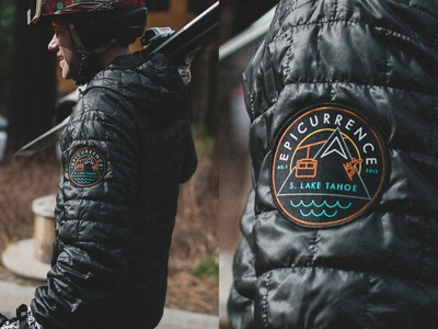 Epicurrence No.1 Woven Patch epicurrence badge patch snowboarding skiing jacket patagonia logo identity branding