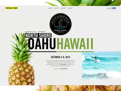 Epicurrence: North Shore, Oahu Update epic hawaii pineapple conference landing page surfing interface