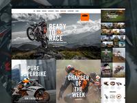 KTM.com Landing Pages