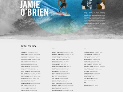 Epicurrence No.2 Official Roster epicurrence jamie obrien watercolor hawaii surfing event landing website conference