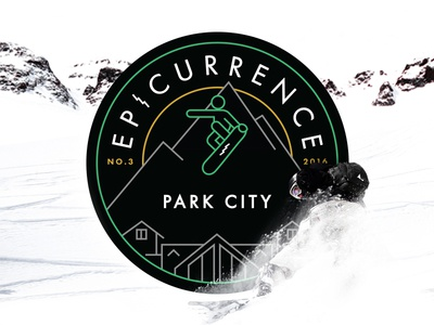 Announcing Epicurrence No.3 Park City, UT! epicurrence identity logo badge adventure park city utah skiing snowboarding event conference