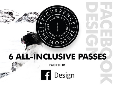 Facebook Design Giveaway mountains skiing snowboarding facebook giveaway event sponsor conference