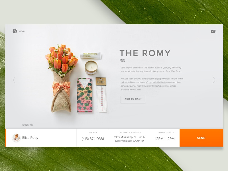 bloomthatcom product page by dann petty dribbble