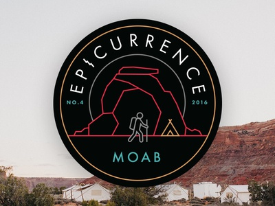 Epicurrence No.4 MOAB, UT! epicurrence patch rock hiking utah moab badge logo annoucement conference event