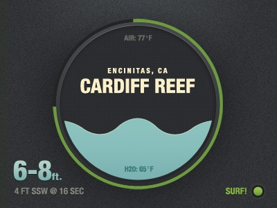 Introducing the Surf Dial. data texture infographic dial type logo icon