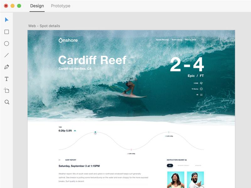 Onshore —Website Design in Xd ui ux design adobe download demo website iphone app xd