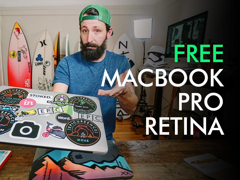 FREE MacBook Pro Retina plus software —take it  stickers laptop macbook pro retina giveaway free