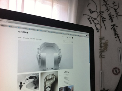 NIXON.com is now live! redesign website ui nixon watches live launch clothing apparel web design interface white
