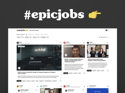 Epic Jobs - Know who's hiring you