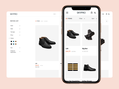 Skypro Store store ecommerce fashion shoes uniforms airlines identity type webdesign layout website web portugal interface ux ui design