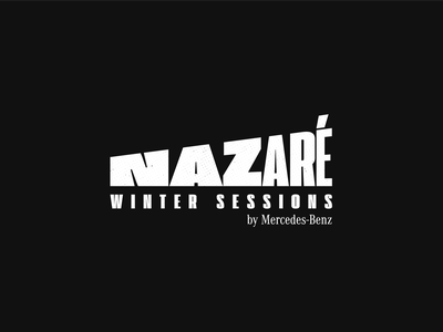 Nazaré Winter Sessions brand design mercedes-benz sessions winter nazare bigwaves surf logo type portugal