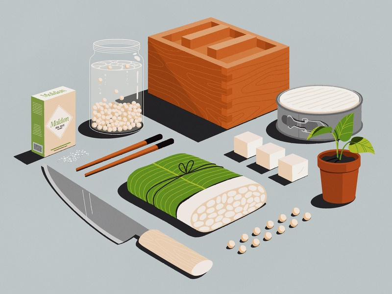 Kitchen trouble graphic illustration graphic art graphic geometric isometric illustration isometric food illustration food design drawing digital art photoshop illustrator illustration