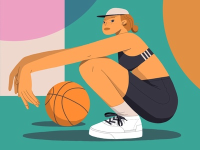 Ball girl adidas originals fashion illustration figuredrawing girl character illustration characterdesign drawing procreate ipadpro illustration