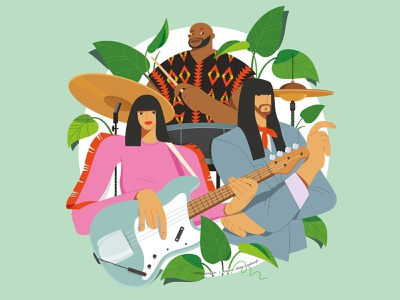 Khruangbin character illustration characters band artwork band art khruangbin merchandise design band merch bandmerch merch design digital art illustration