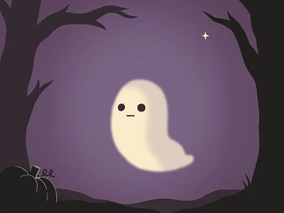 dribbbleweeklywarmup procreate ipadpro gifanimation animatedgif spooky ghost dribbbleweeklywarmup halloween