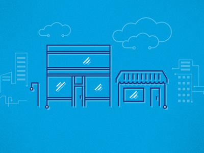 Technology for SMBs/SMEs illustration spot illustration icons buildings circuitry technology business technology smb sme
