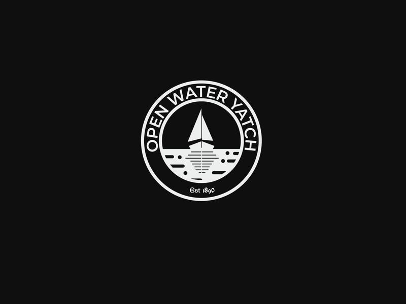 Day 23 Daily Logo Challenge Creade: Open water Yatch logo inspiration daily logo daily logo challenge logotype vectorart illustration brand dailylogochallenge adobe illustrator branding vector logo