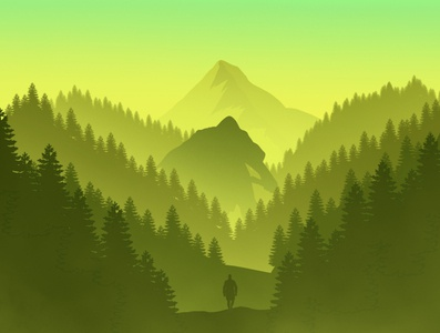 Finding Valley -  Fantasy Landscape Art / Illutration layout vector artist art landscape art landscape flatdesign adobe illustrator flat illustration branding illustration logo