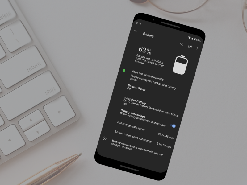 Daily UI 007 | Settings Page settings ui 007 daily ui 007 daily ui dailyui android settings page battery