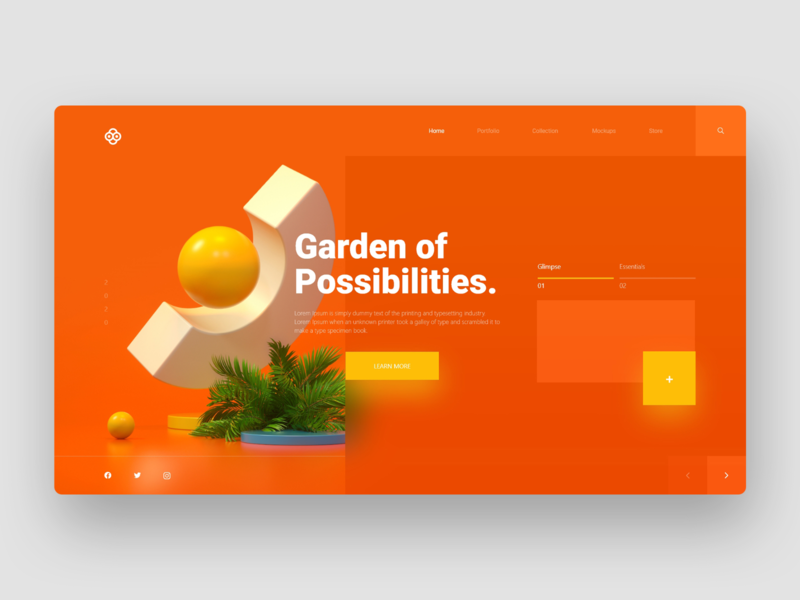 Garden of Possibilities - Web Design Concept userinterface icon interactive interaction website design portfolio garden app website branding web ux minimal design concept uiux ui design ui