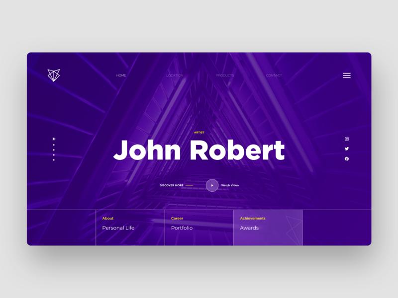 Portfolio Website Concept app design artist portfolio design portfolio app website branding web ux minimal design concept uiux ui design ui
