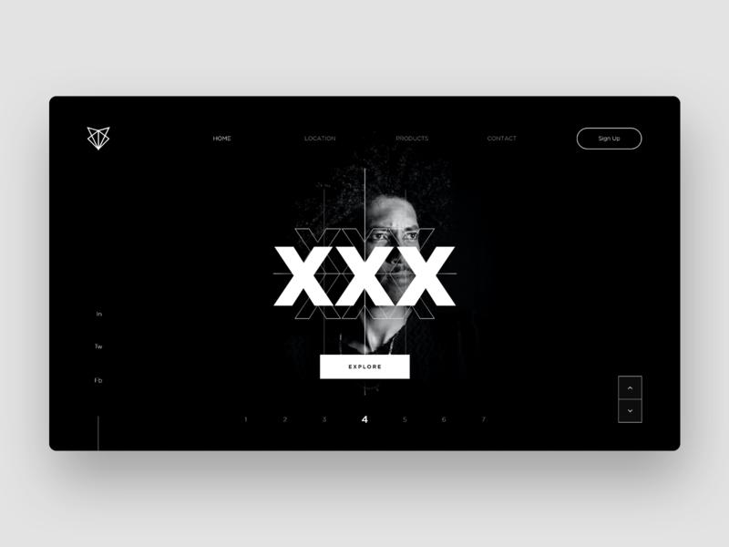 Abstract Web Design Concept blackandwhite black portrait portfolio web desgin webdesign app website branding web ux minimal design concept uiux ui design ui