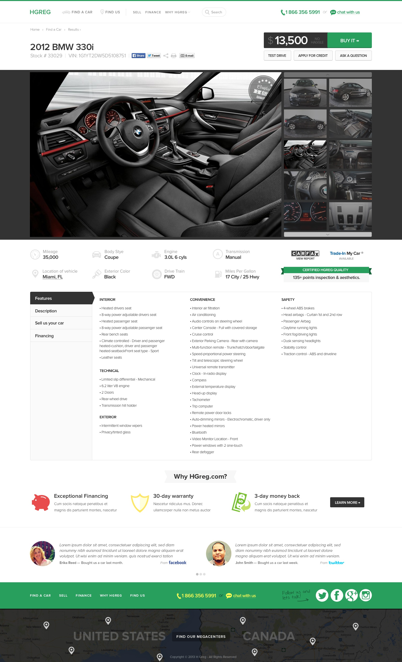 Vehicle description page big