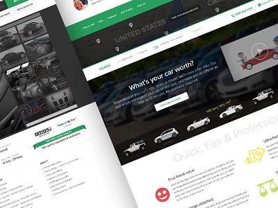 HGreg.com redesign redesign cars green vibrant website