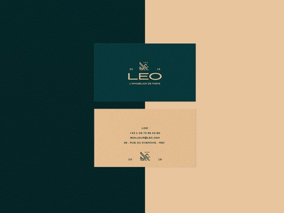 "LEO's ""fancy"" business card"
