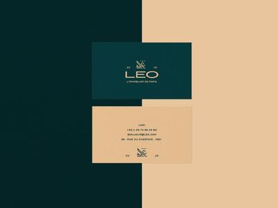 """LEO's """"fancy"""" business card"""