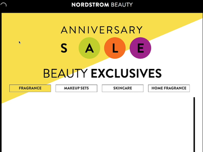 Nordstrom Anniversay Endcap - 2015 branding css animation ui html5 design css animation angularjs ux ui design