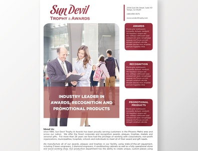 Sun Devil Flyer branding design adobe corporate flyer design corporate flyer marketing material branded content artwork flyer design flyer