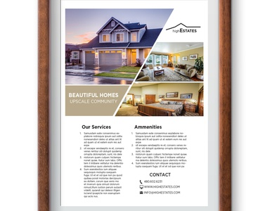Real Estate Flyer brand design brand branding real estate branding design layoutdesign page layout realestate flyer layout adobe illustrator adobe flyer design flyer