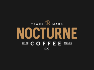 Alternate Lockup for Nocturne Coffee