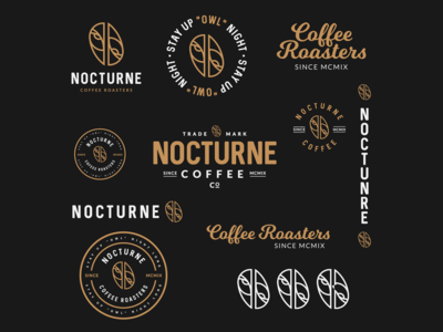 Lockups & Badges for Nocturne Coffee