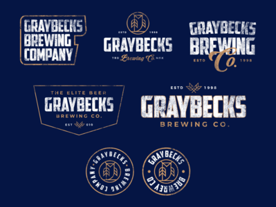 Badges and Lockups for GrayBecks Brewing Co.