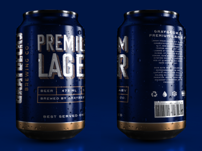 Beer Can Design For Graybecks Brewrey