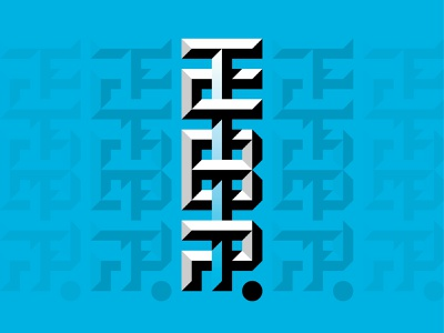 TCBP Monogram letters chiseled beveled type letter mark monogram logo monogram typography vector shapes design brand