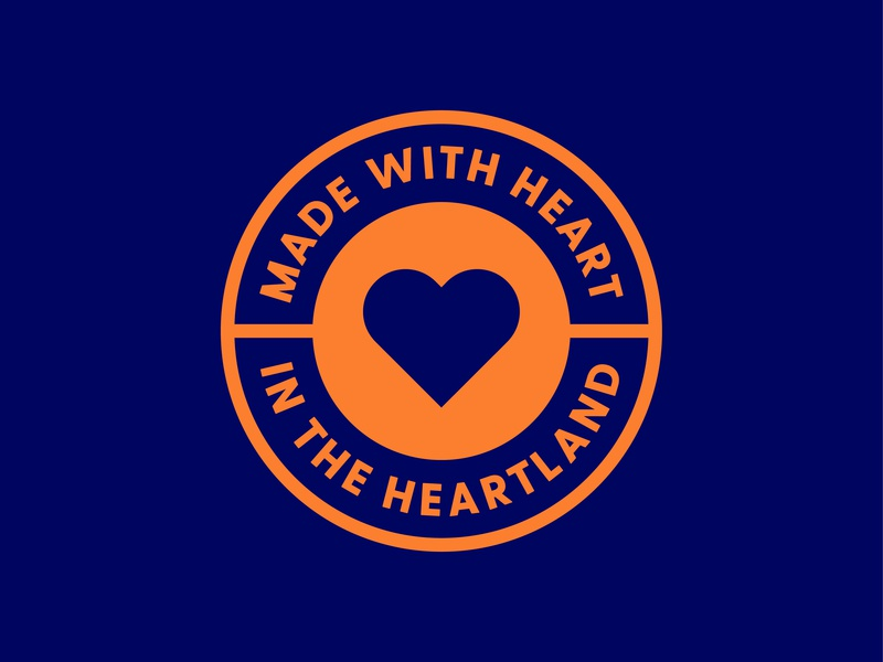 Heart in the Heartland midwest heartland heart vector shapes branding brand design